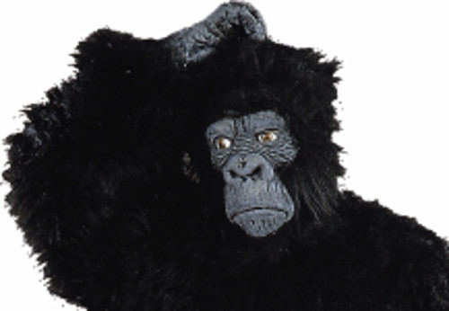 Adult Black Latex Gorilla Mask