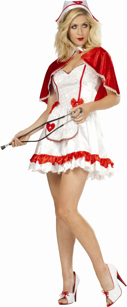 Adult Caped Nurse Costume