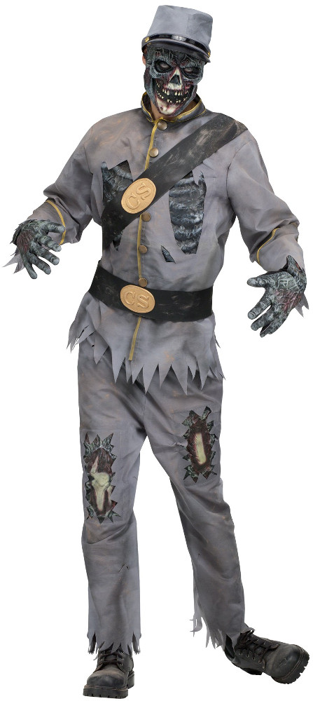 Adult Confederate Grey Zombie Costume