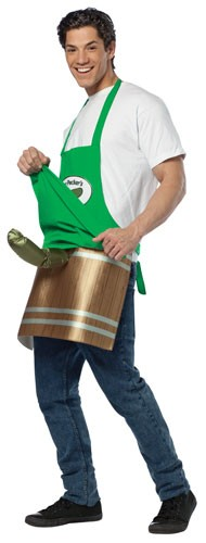 Adult Deli Pickle Man Dirty Costume Apron