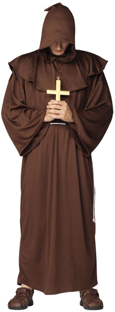Adult Deluxe Hooded Monk Costume