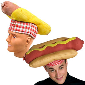 Adult Hot Dog Hats