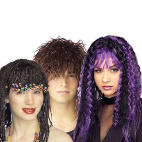 Adult Kinky & Crimped Wigs