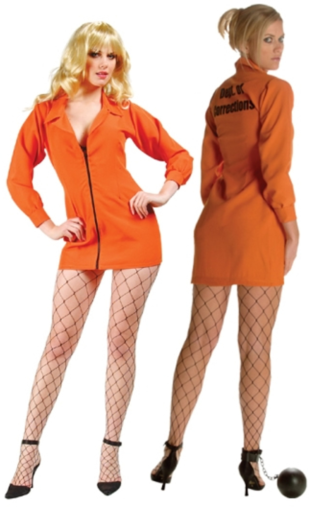 Adult Orange Bad Girl Convict Costume