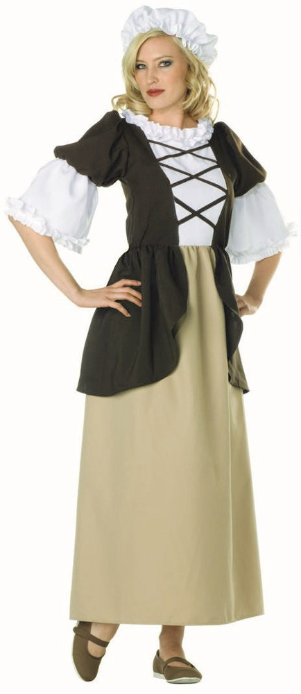 Adult Plus Size Colonial Lady Costume