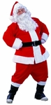 Adult Plus Size Velvet Santa Suit
