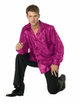 Adult Purple Disco Inferno 70's Sequin Shirt