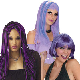 Adult Purple Wigs