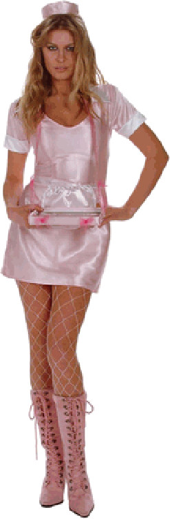 Adult Satin Car Hop Girl Costume