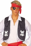 Adult Satin Pirate Vest