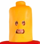 Adult Yellow Toy Block Man Headpiece