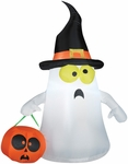 Airblown Outdoor Ghost w/Witch Hat