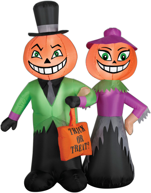 Airblown Pumpkin Couple