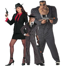 Black Gangster Costumes