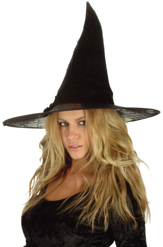 "Black Spider Witch Hat 18""X15"""