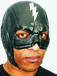 Black Thunderbolt Superhero Headpiece