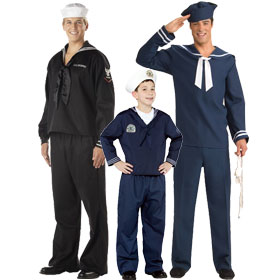 Blue Navy Sailor Costumes