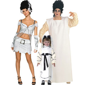 Bride of Frankenstein Costumes