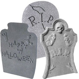 How To Make Fake Tombstones For Halloween