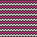 Chevron Bandanas Pink Black & White