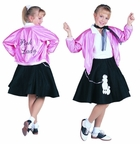Child 50's Pink Lady Costume Jacket