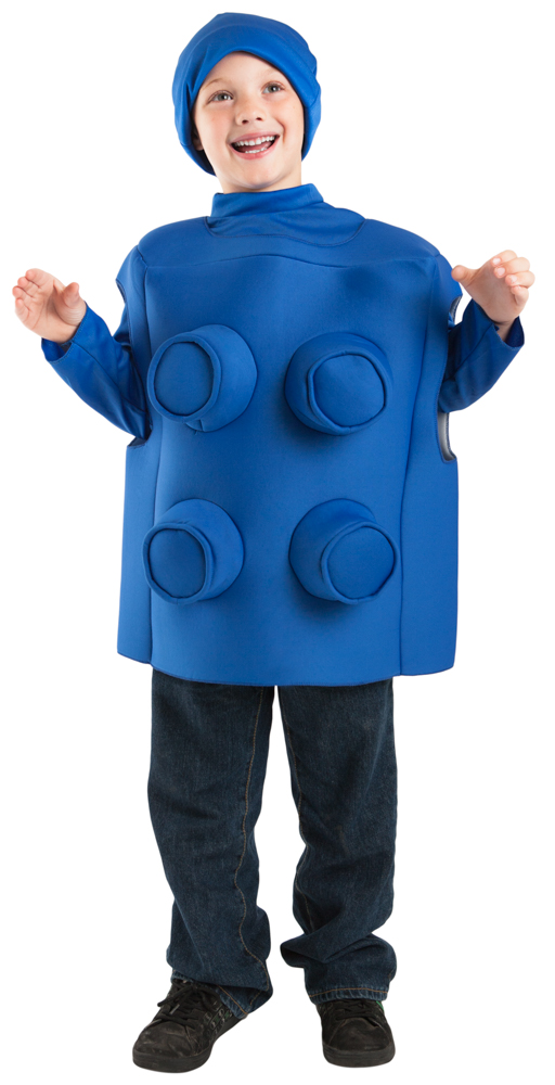 Child Blue Brick Toy Block Costume