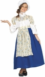 Child Blue Colonial Girl Costume