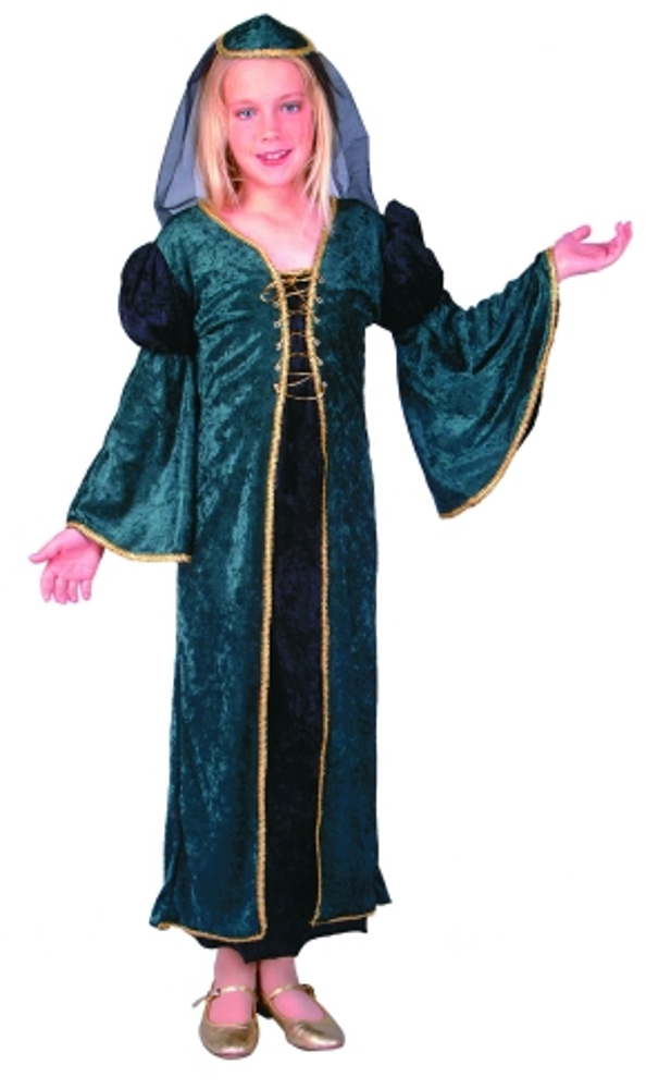 Child Green Velvet Juliet Costume