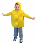 Child Yellow Stacking Brick Costume