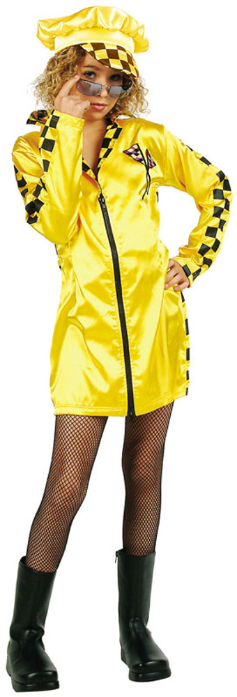 Child Yellow Speedster Costume Dress