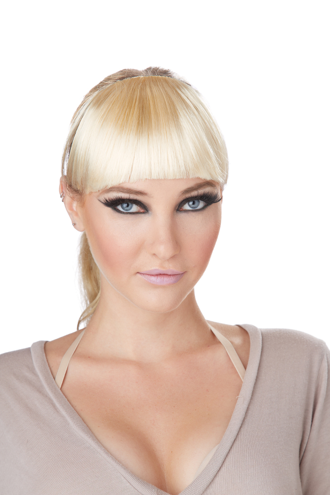 Clip-On Blonde Bangs