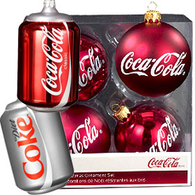 Coca Cola Christmas Ornaments