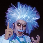 Crazy Raver Mad Scientist Light Up Wig & Mustache
