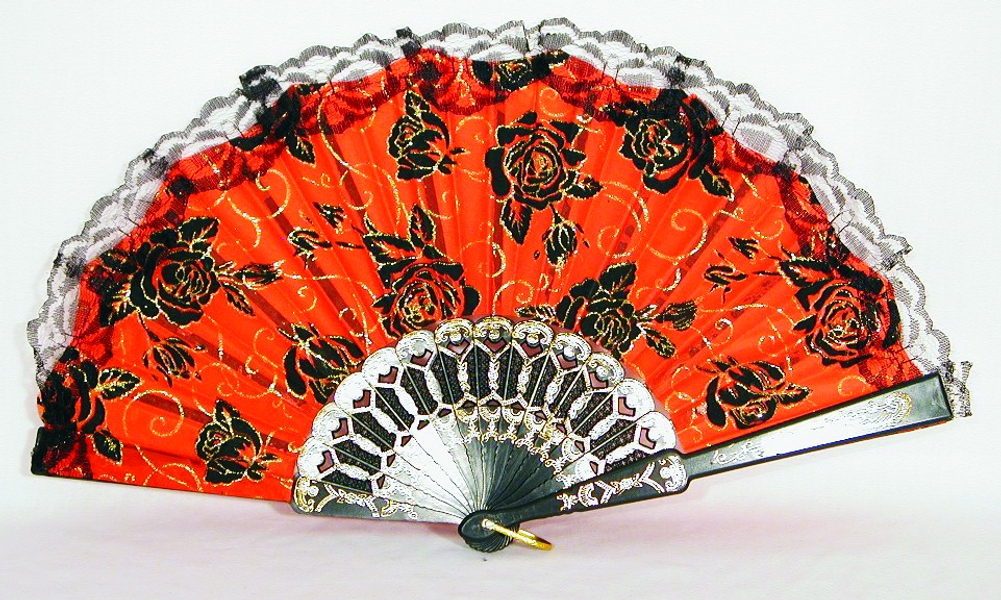 Day of the Dead Fan - Lace Trim