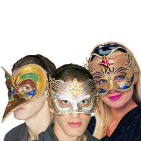 Gold Masquerade Masks