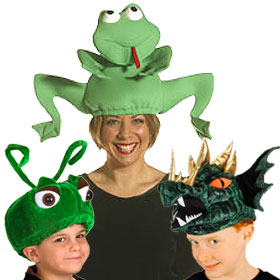 Green Animal Hats