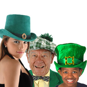 Green Costume Hats