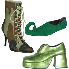 Green Costume Shoes