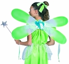 "Green Fairy Wings (Size: Child 24""X10"")"