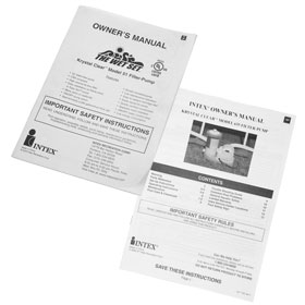 Intex Pump Instruction Booklets