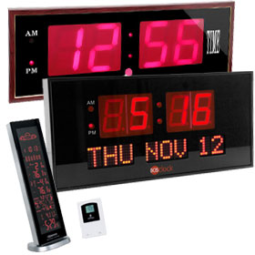Large LED Clocks