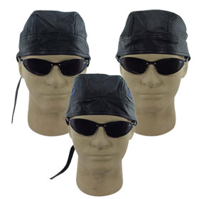 Leather Skull Caps