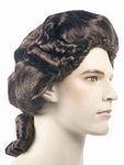 Men's Delux Samuel Adams Colonial Early American Costume Wig