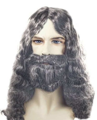 Men's Quality Grey Biblical Wig and Beard