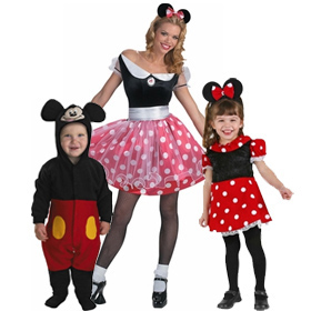 Mickey & Minnie Mouse Costumes