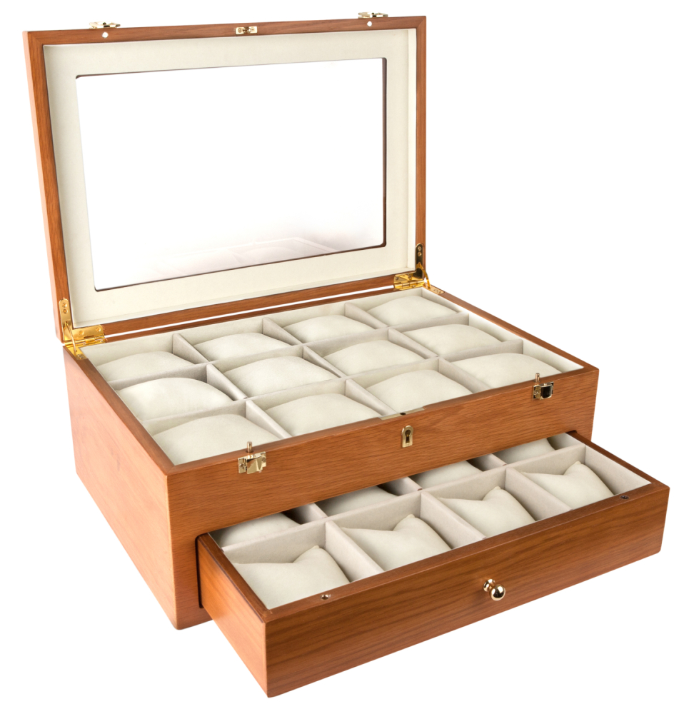 Extra Large Oak Watch Storage Box