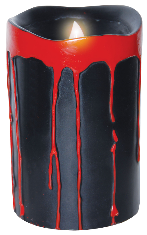 Pair Bloody Black Dripping Candles