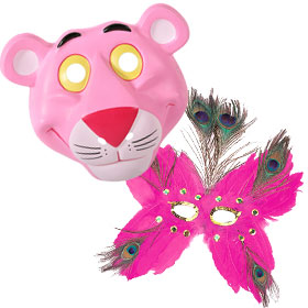 Pink Costume Masks