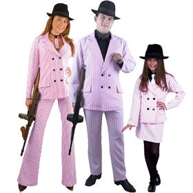 Pink Gangster Costumes
