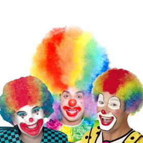 Rainbow Clown Wigs